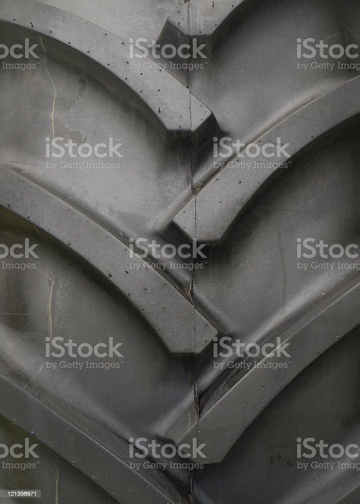 Tractor tyre tread stock photo
