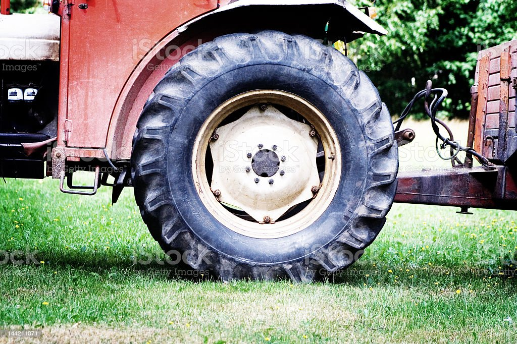 Tractor wheel royalty-free stock photo