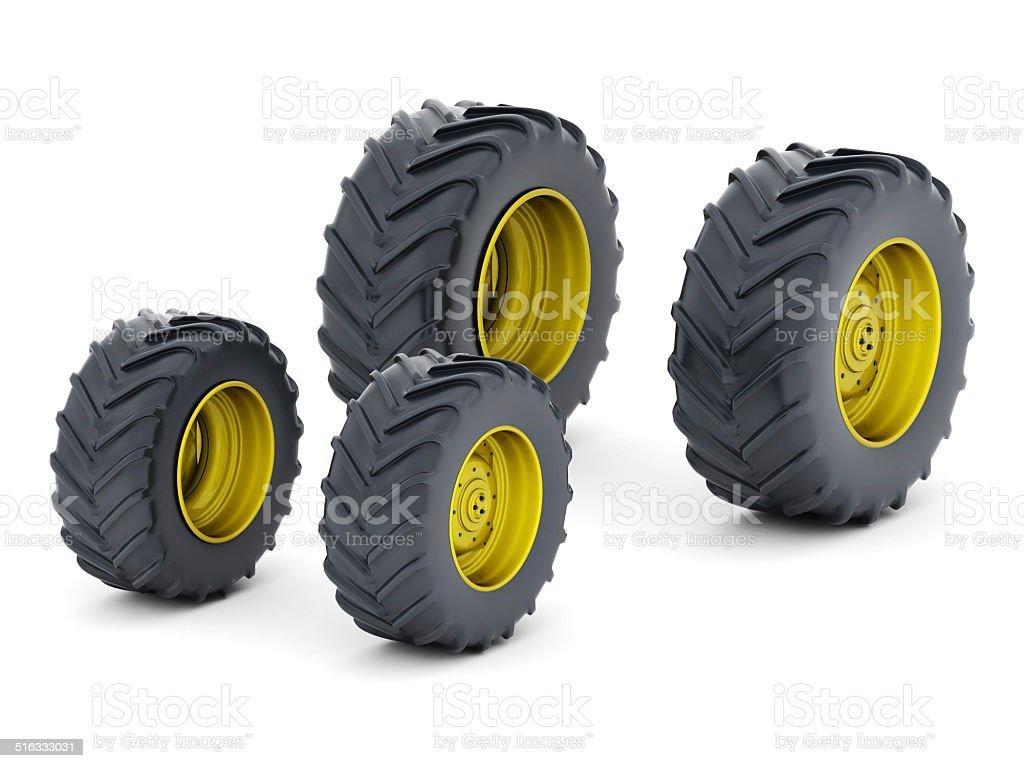 Traktor Auto Isoliert – Foto
