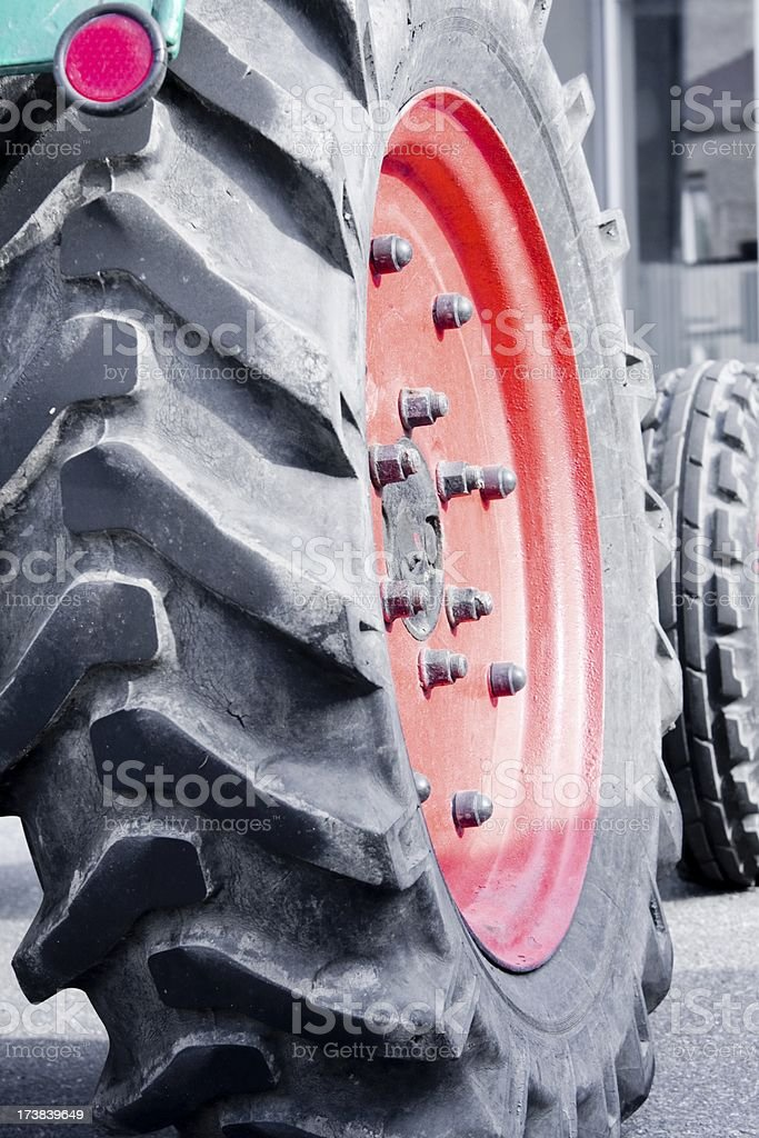 tractor wheels royalty-free stock photo