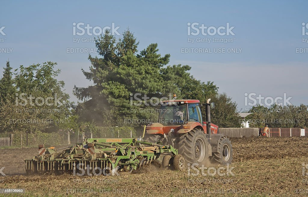 Tractor with a Plow royalty-free stock photo