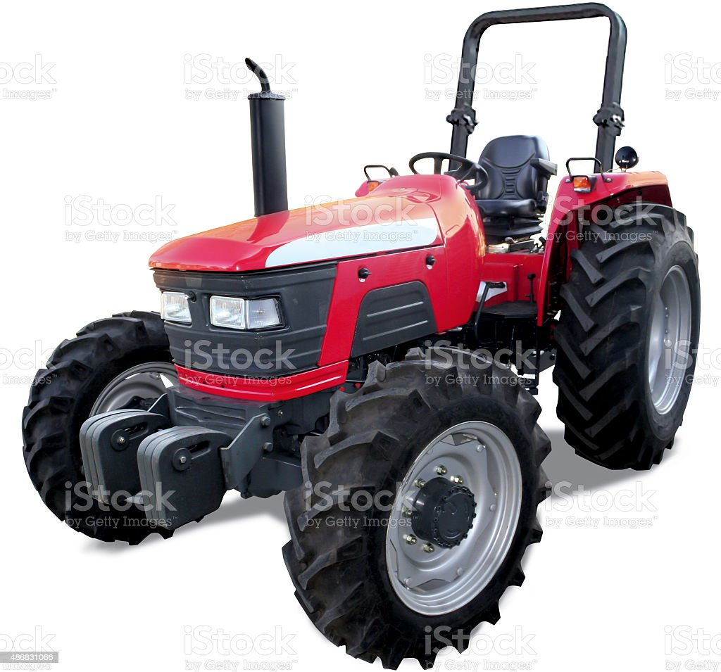 Tractor without cabin stock photo