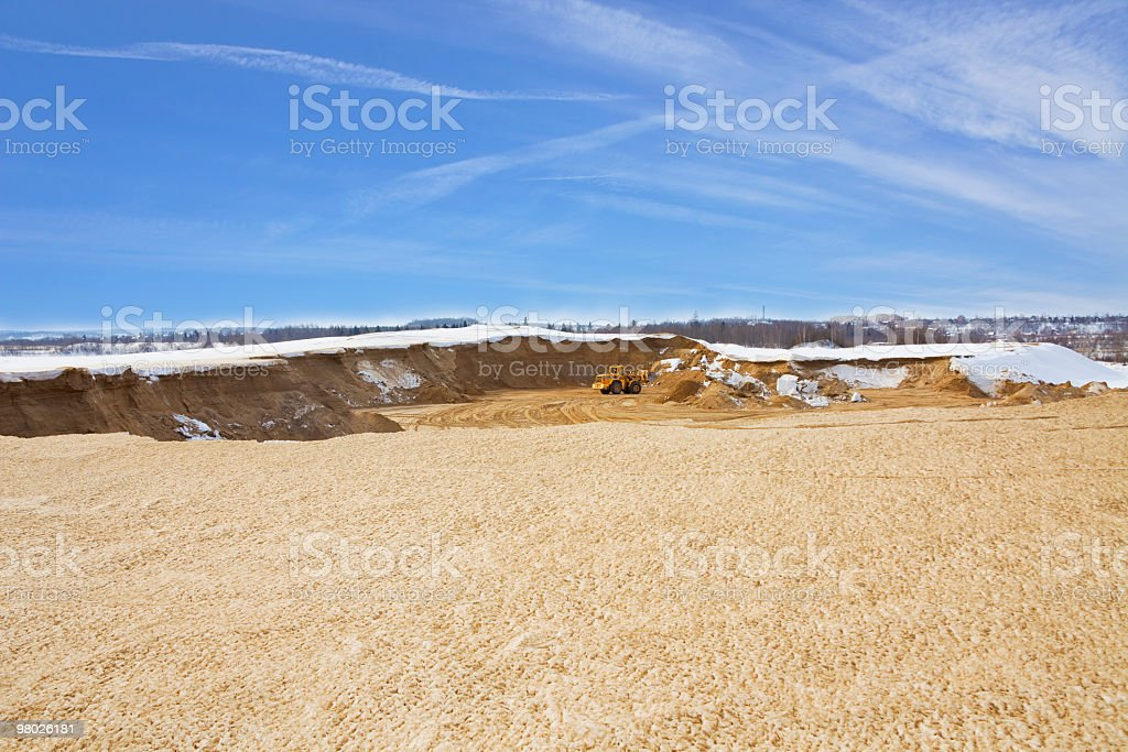 Tractor work in opencast royalty-free stock photo