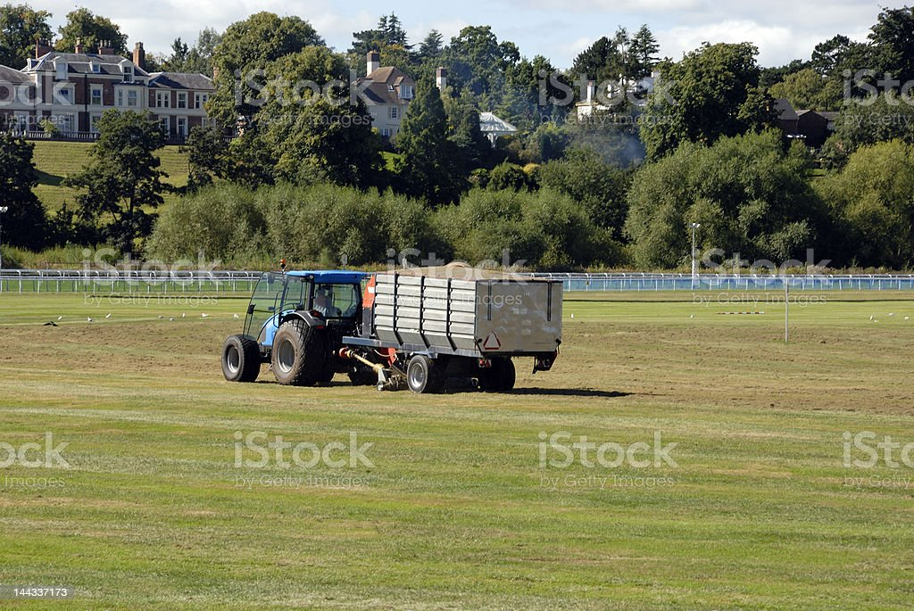 Tractor working in the field royalty-free stock photo