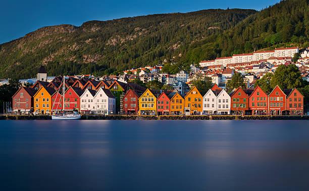 Des maisons de Bryggen de Bergen - Photo