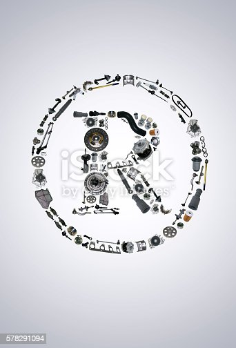 istock Trade Mark icone with auto parts for car 578291094