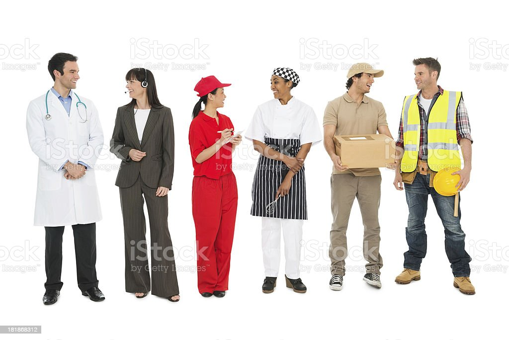Trade People Talking royalty-free stock photo