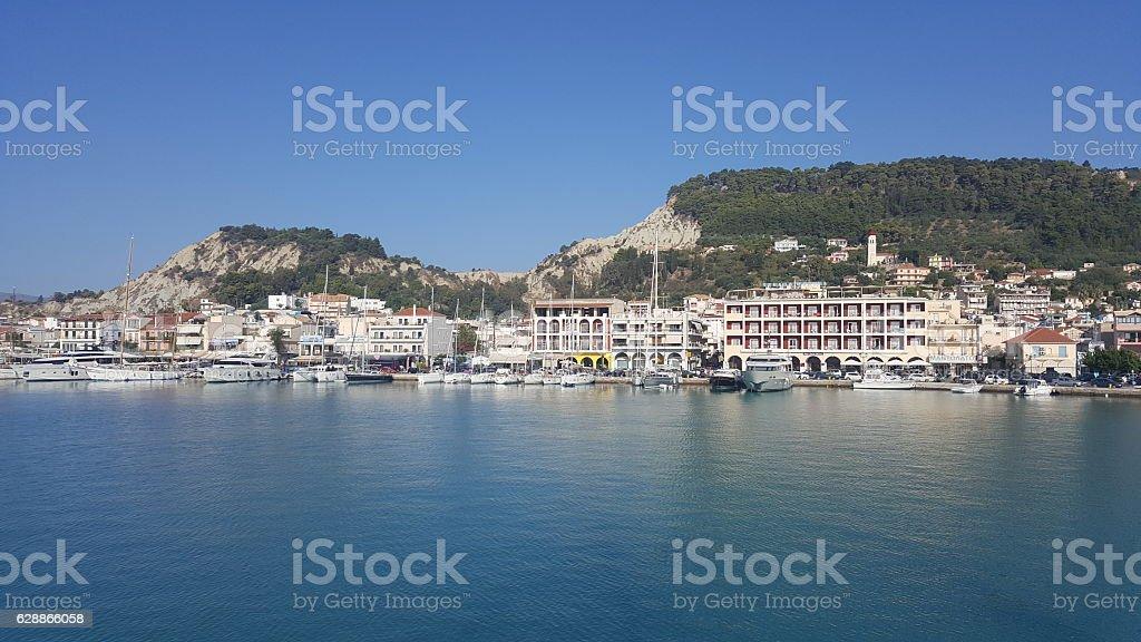 Trade Port, Shipping, Zakynthos, Greece stock photo