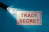 istock Trade Secret - inscription on a white card 1283891733