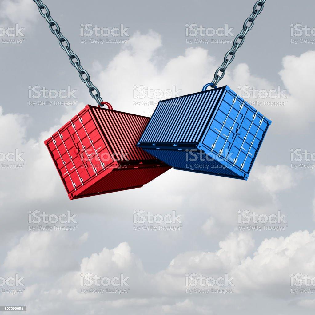 Trade War Concept stock photo