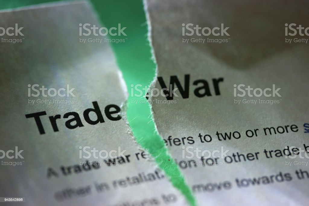 trade war stock photo