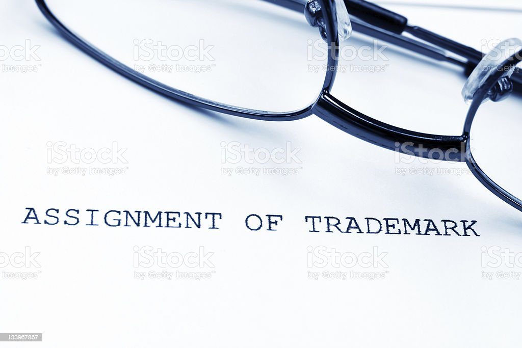 Trademark assignment royalty-free stock photo