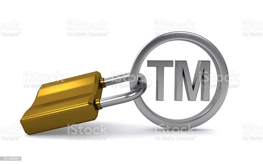 Trademark sign stock photo