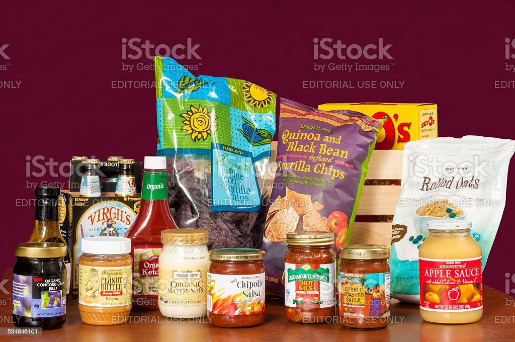 Trader Joe's assortment stock photo