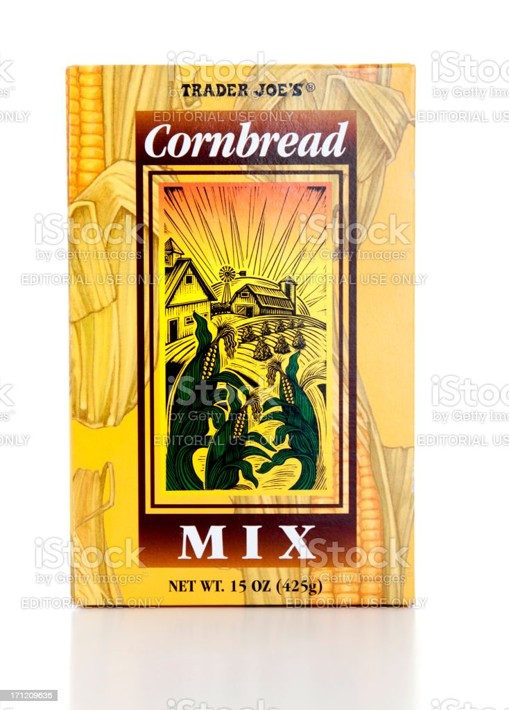 Trader Joe's Cornbread Mix stock photo