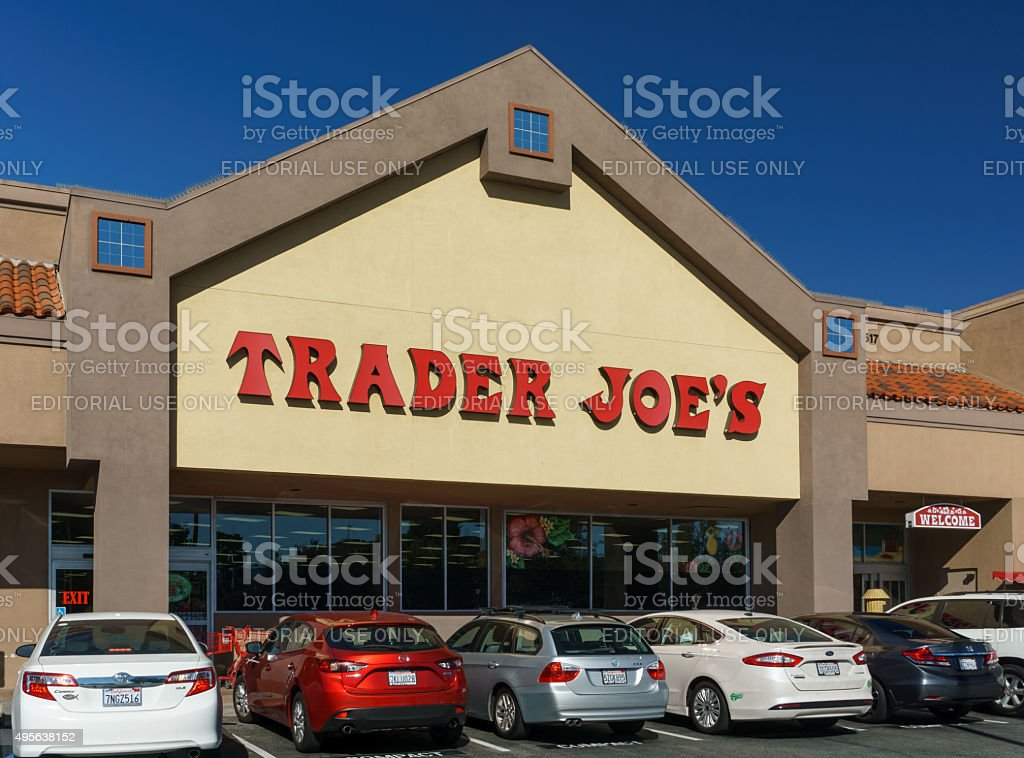 Trader Joe's Exterior and Sign stock photo