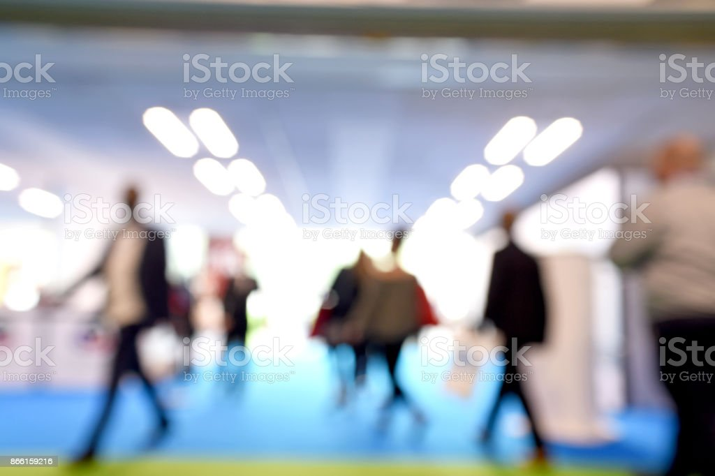 Tradeshow Attendees stock photo