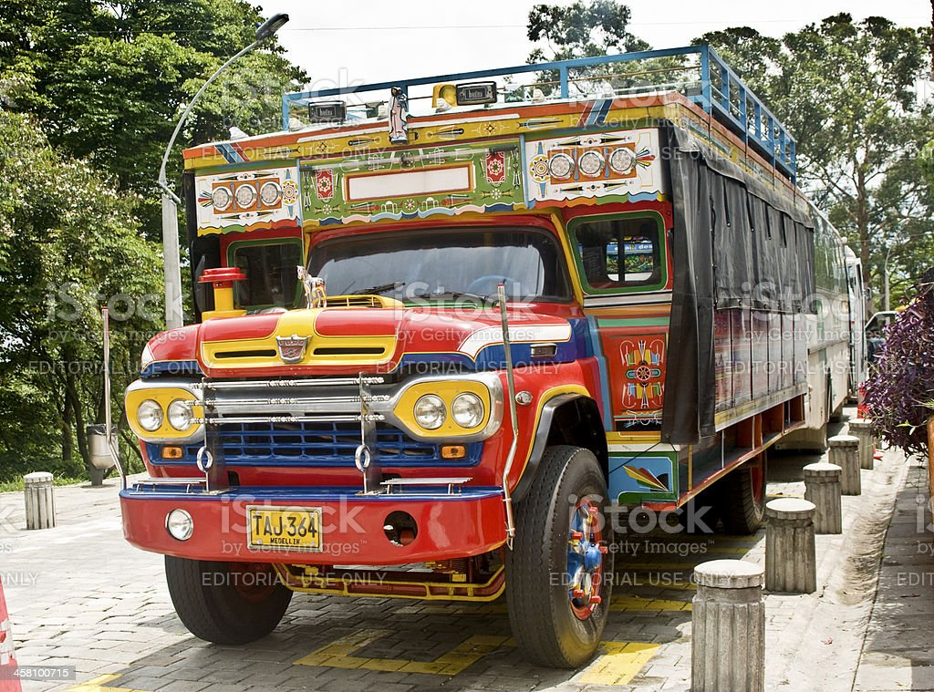 Tradiitional Colombian 'Chiva' Autobus royalty-free stock photo