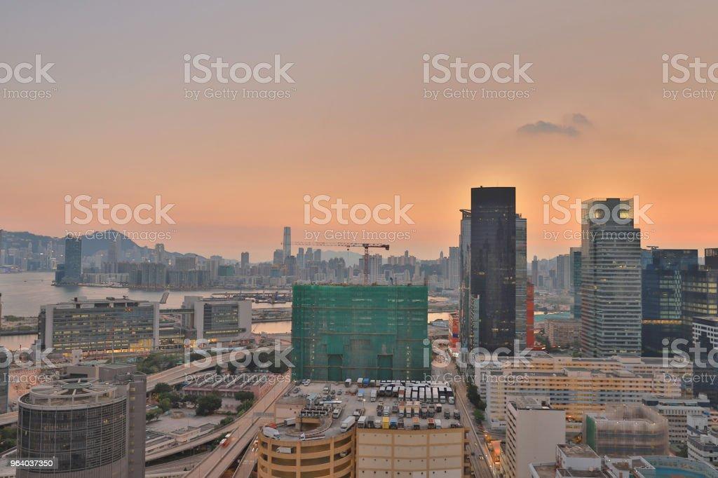トレーディング、ビジネスと産業エリアで香港 - 九龍のロイヤリティフリーストックフォト