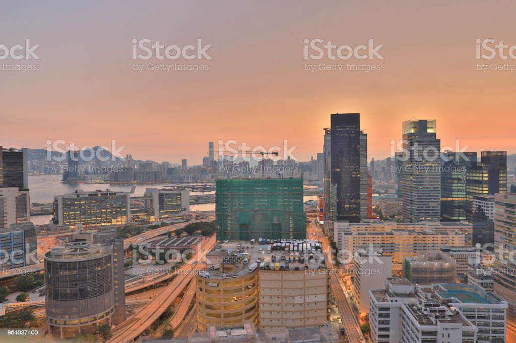 trading, business and Industrial area at hong kong - Royalty-free City Stock Photo
