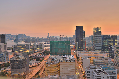 Trading Business And Industrial Area At Hong Kong Stock Photo - Download Image Now