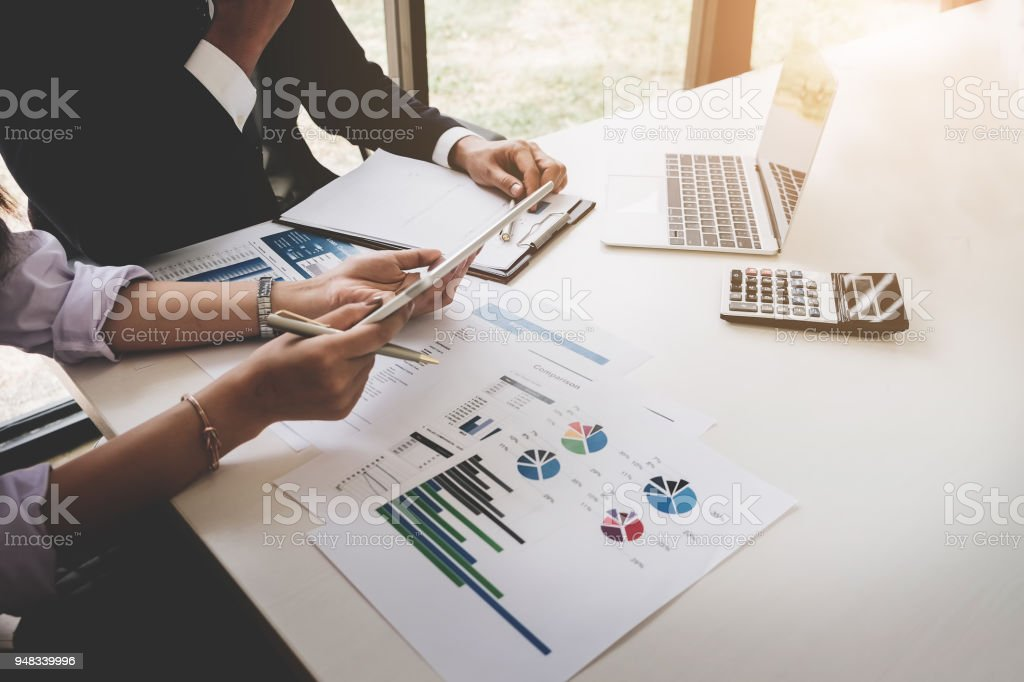 Trading business, the affiliate offers a profit model to adapt the current competitive strategy. stock photo