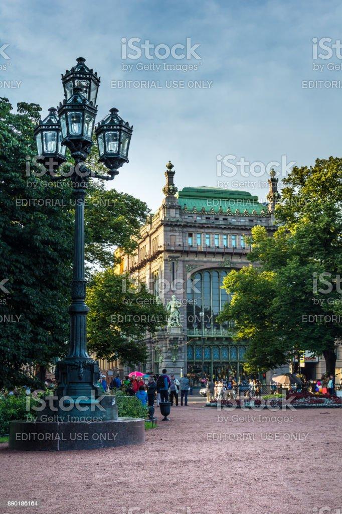 Trading house 'Brothers Eliseev ' on Nevsky Prospect stock photo