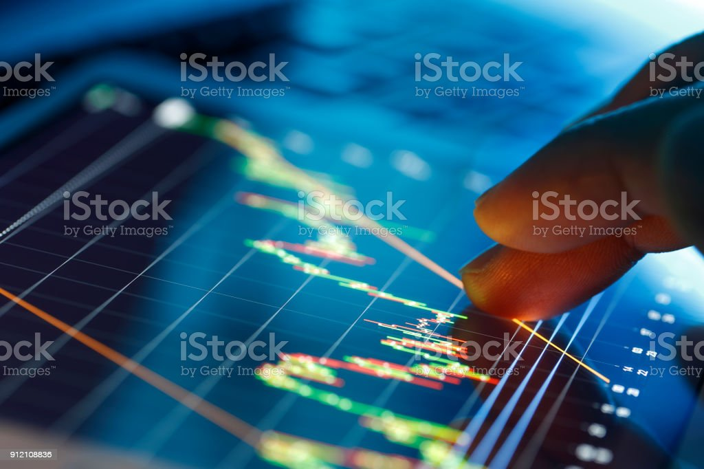 Trading on stock market concept - foto stock
