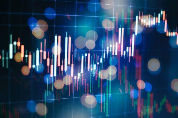 Forex Döviz piyasasında ticaret. Dünya para birimi için Döviz kuru: ABD Doları, Euro, Frank, yen. Finansal, para, küresel finans, borsa arka planı stok fotoğrafı