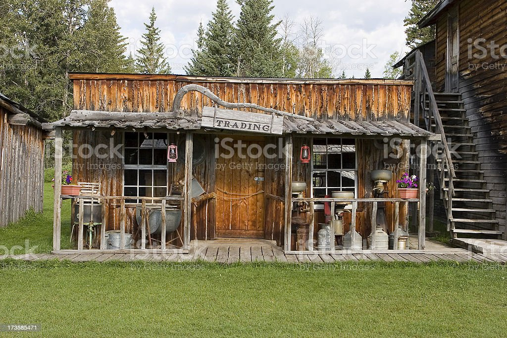 Trading Post stock photo
