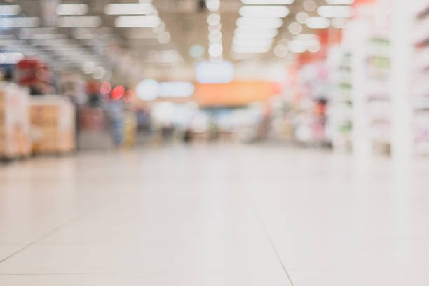 Trading room in the supermarket. Out of focus. Trading room in the supermarket. Out of focus supermarket stock pictures, royalty-free photos & images