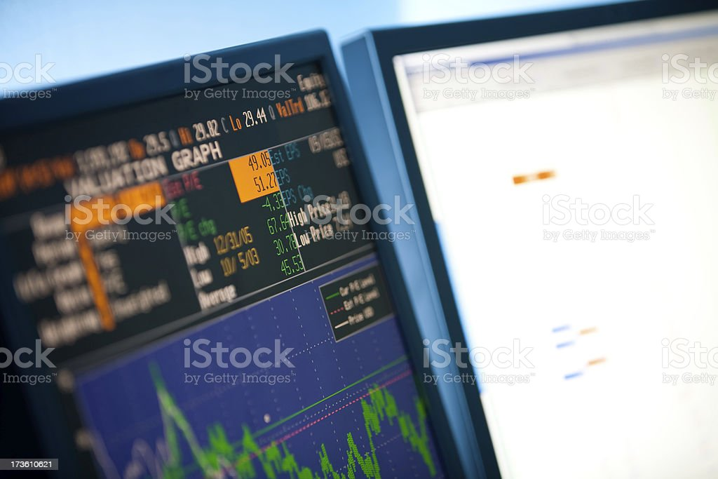 Trading Screen royalty-free stock photo