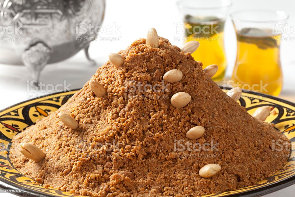 Tradional Moroccan almond sellou royalty-free stock photo