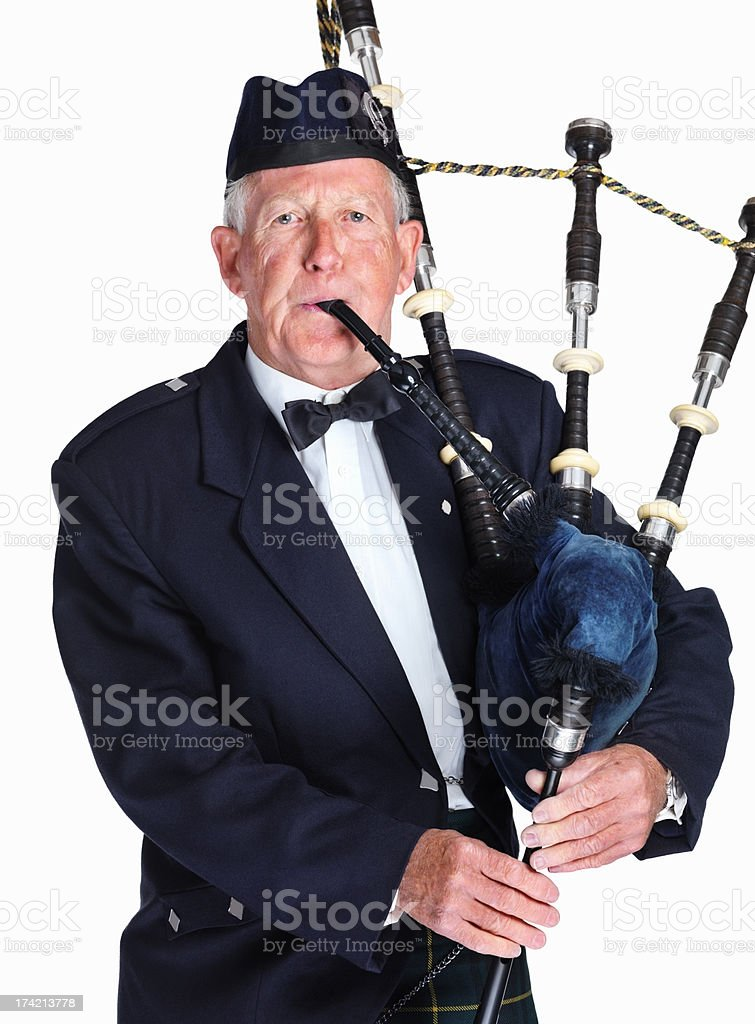 Tradional Scottish piper royalty-free stock photo