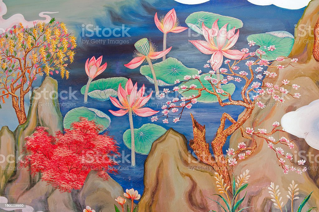 tradition Chinese painting stock photo