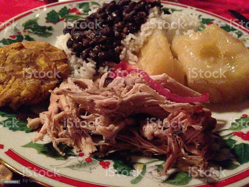 Cuban Christmas Tradition.Tradition Cuban Holiday Dish Stock Photo Download Image