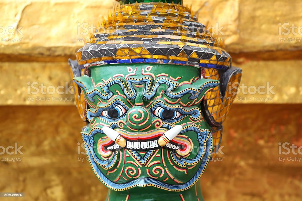 tradition demon mask background. stock photo