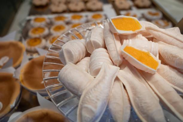 Tradition Portugiesische Süßigkeiten: Eier Moles von Aveiro, Portugal – Foto