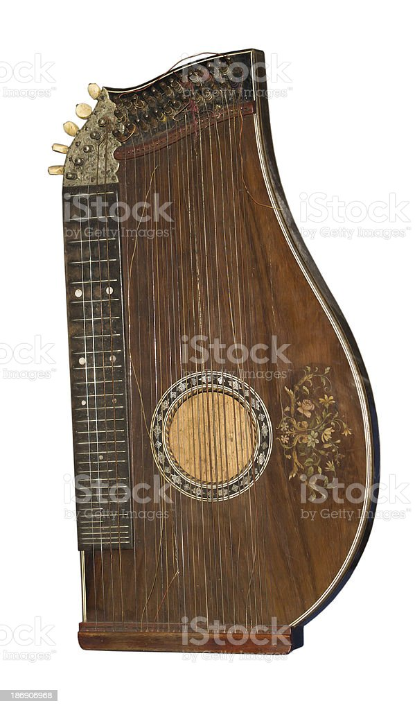 Traditional a German musical instrument stock photo