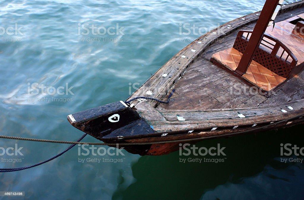 Traditional abra boat in Dubai, UAE stock photo