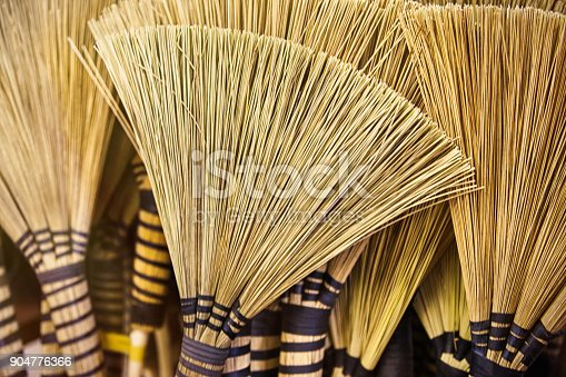 istock Traditional African brooms 904776366