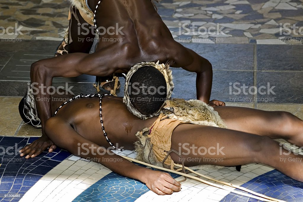 traditional African dancers royalty-free stock photo