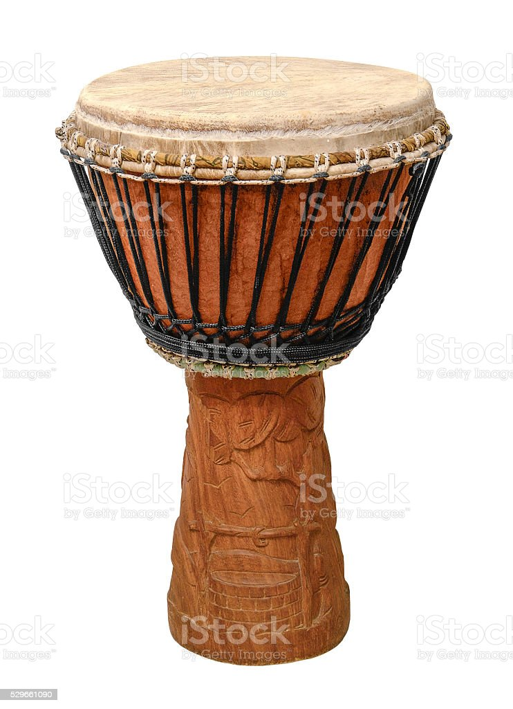 traditional african djembe stock photo