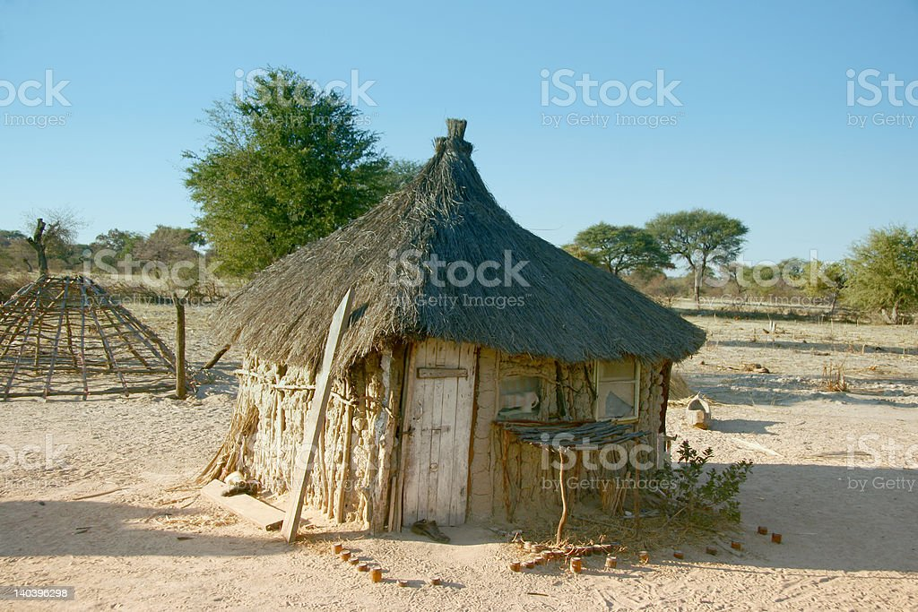 Traditional African Hut royalty-free stock photo