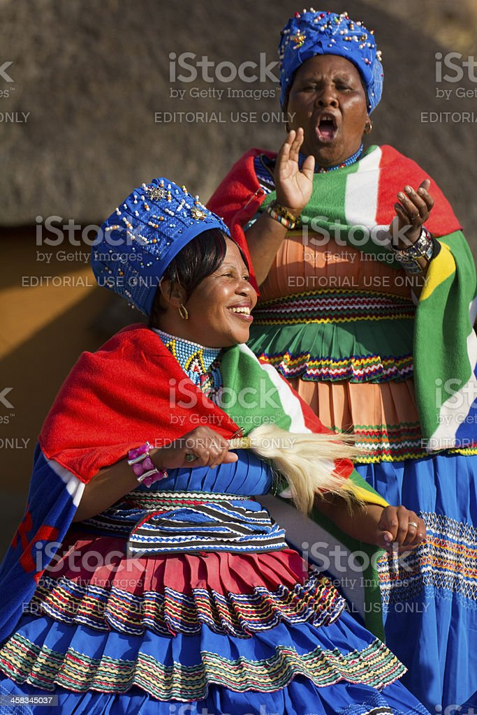 Traditional African Ladies stock photo