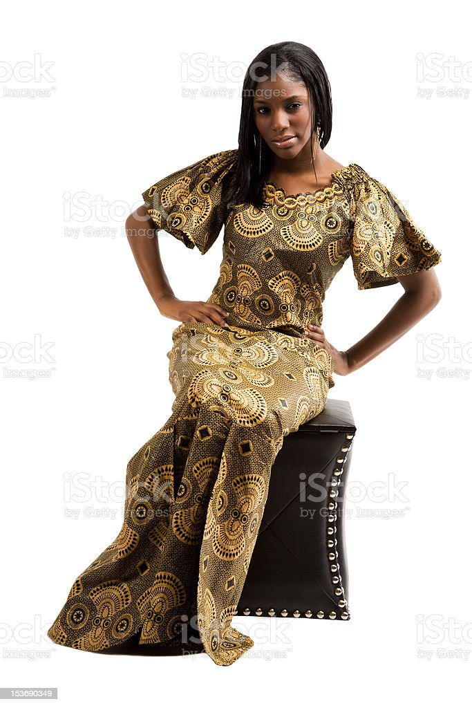 Traditional african woman royalty-free stock photo