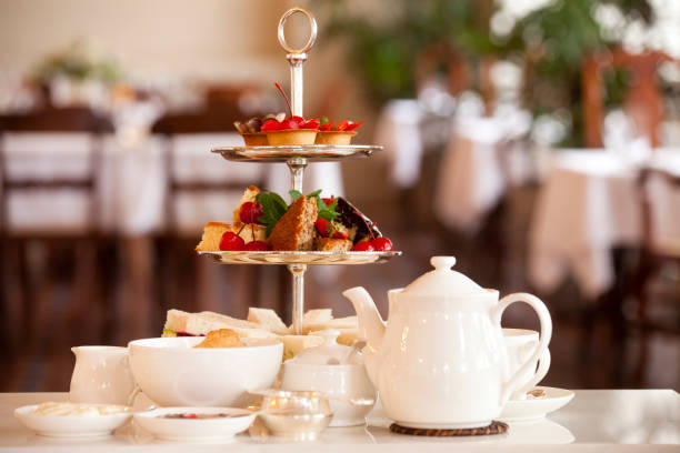 traditional afternoon tea traditional afternoon tea tea room stock pictures, royalty-free photos & images