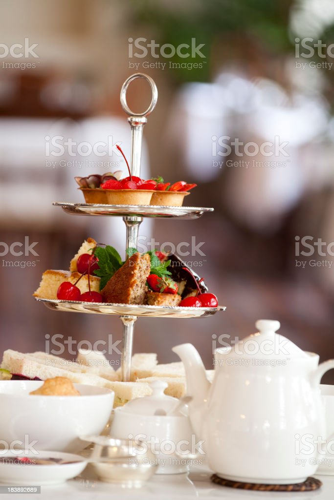 traditional afternoon tea royalty-free stock photo