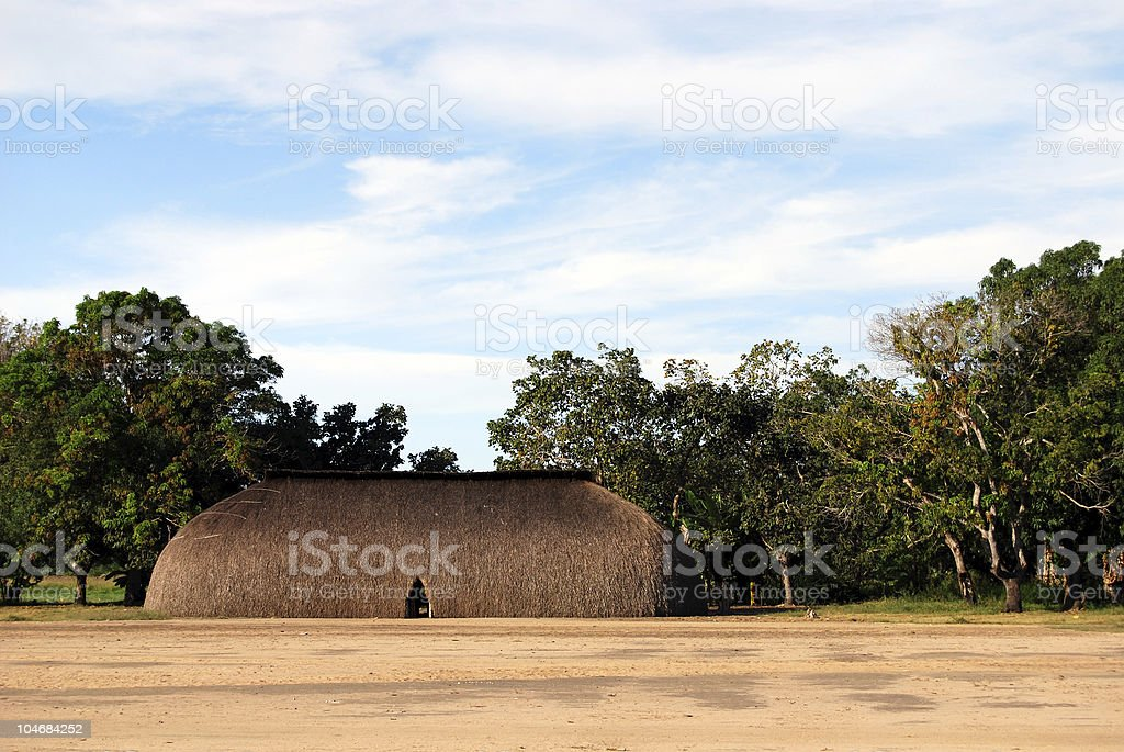 Traditional Amazon Indian house stock photo