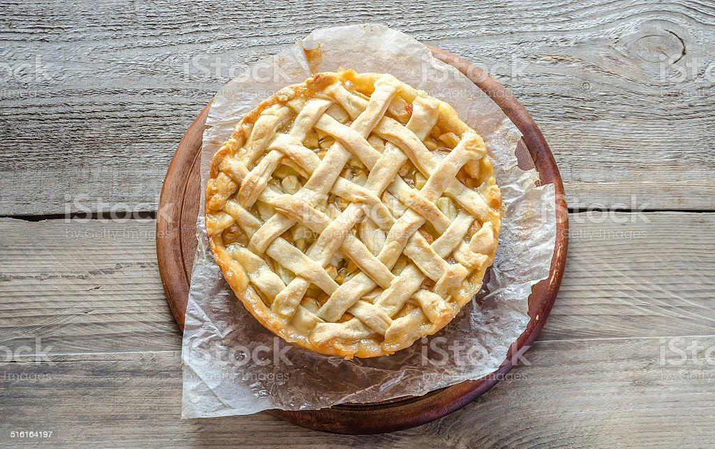 Traditional american apple pie stock photo